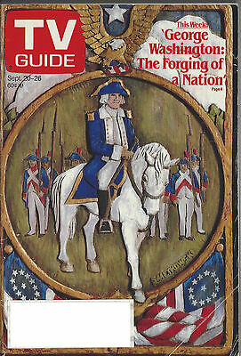 1986 TV GUIDE George Washington: The Forging of a Nation Sept. 20-26
