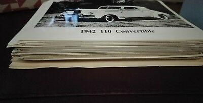 Stack Of Packard B&W Automobile Photos possibly 250