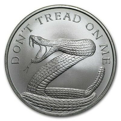 1 oz Silver Dont Tread On Me 2018 .999 Pure/fine  BU Limited USA NRA military