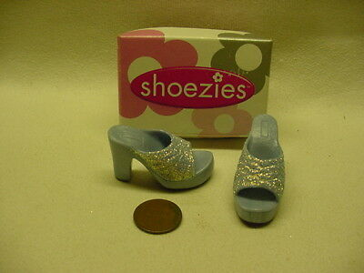 2001 New York Toy Fair Hasbro Shoezies Girls Night Out Light Blue Glitter In Box