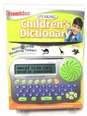 Franklin KID-1240 Childrens Speaking Dictionary Spell Correction New Sealed