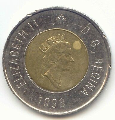 Canada 1998 Toonie Canadian $2 Dollars Twoney Toony Two Dollar EXACT COIN SHOWN