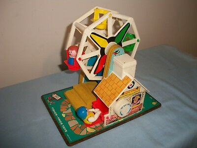 Vintage 1966 Fisher Price Music Box Ferris Wheel For Little People #969