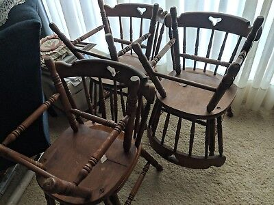 6 Tell City Co Young Republic Hard Rock 48 Andover Maple Mate's Chair 8018 VTG
