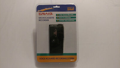 NIP Craig FP514 Voice Activated System Portable Micro Cassette Recorder NOS