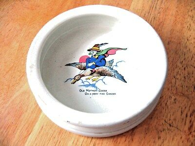 Flying Mother Goose Child's Feeding Dish Bowl by Grindley