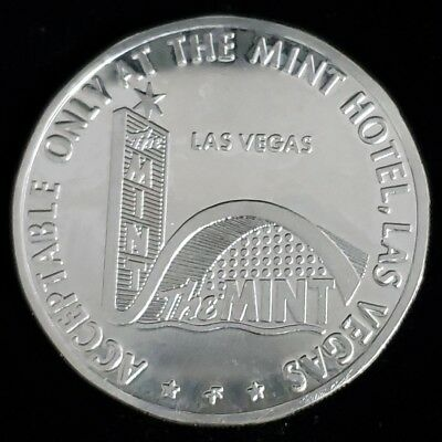 1967 The Mint Hotel Casino $5 Sterling Silver Proof Gaming Token Chip >GTTM77