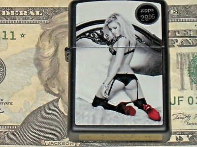 New USA Zippo Windproof Lighter 43696 Red Shoe Coll 3 Striptease Dancer on Bed