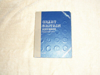 Whitman Folder for Great Britain 1937-  6P with 27 coins, some Silver