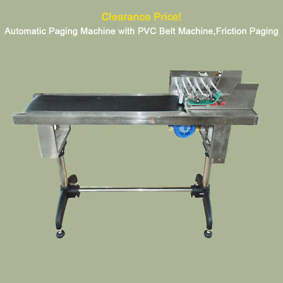 Friction Paging Clearance Price!Automatic Paging Machine with PVC Belt Machine