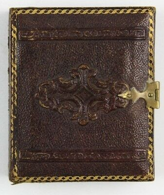 Rare & Clean Ninth Plate Daguerreotype or Ambrotype Beveled Case w/ Brass Clasp
