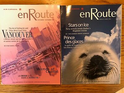 Lot of 2 Air Canada inflight magazines, 1996-1997