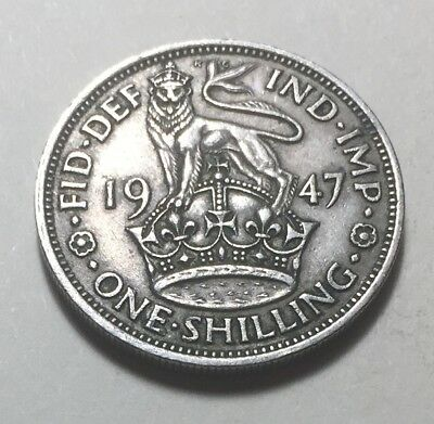 Great Britain 1947 One Shilling (England Version) Coin - King George VI