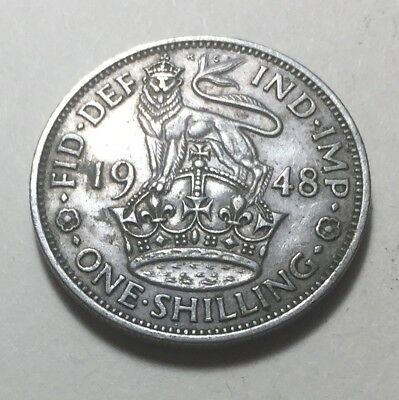 Great Britain 1948 One Shilling (England Version) Coin - King George VI