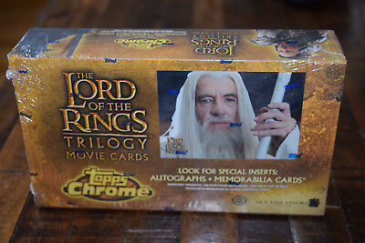 Topps Chrome Lord of the Rings Trilogy SEALED box movie cards (Lot #1)