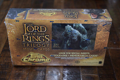 Topps Chrome Lord of the Rings Trilogy SEALED box movie cards (Lot #2)