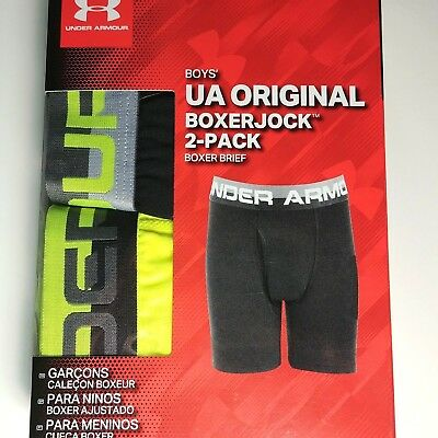 UA - Under Armour Boy's Boxerjock Boxer Briefs Underwear - 2 Pack - Size XL