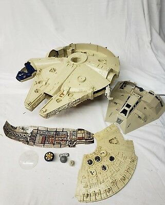 Vintage Lot Of Star Wars Toys Millennium Falcon Ship 1979 1980
