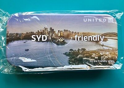 United Airlines Business Class Amenity Tin—Sydney