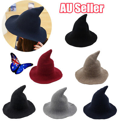 Modern Witch Hat Made From High Quality Sheep Wool Halloween Witch Hat BK