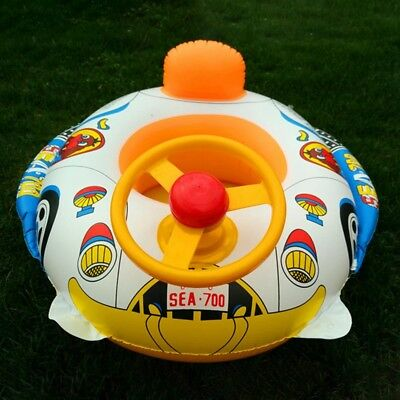 Inflatable Car Baby Kids Toddler Safety Swimming Pool Float Seat Boat Ring UK