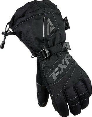 Fxr Womens Fusion Black/charcoal Cold Weather Snowmobile Gloves - M - L - Xl