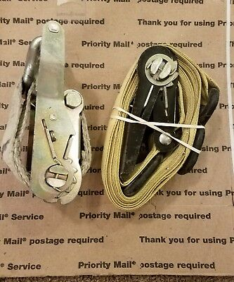 2 ABN Ratchet Tie Down Strap with Flat Hooks  Industrial Strength