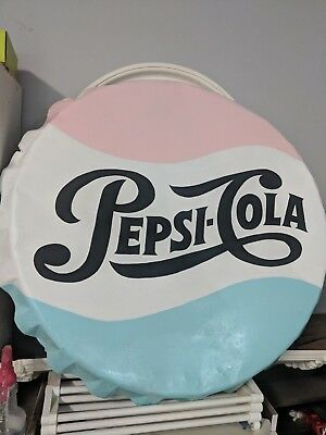 Antique pepsi sign repainted colorful
