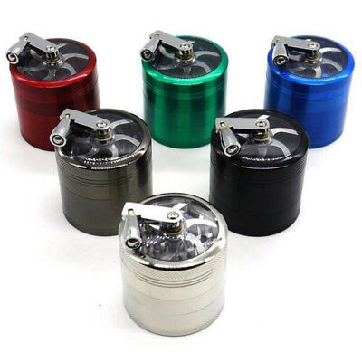 1x 4-Layers Herb Grinder Spice Tobacco/Weed Smoke Metal Crusher Leaf Design Tool
