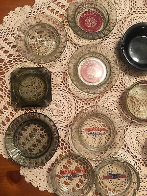 Vintage Las Vegas Casino Hotel and Restaurant Glass Ashtrays Lot of 11
