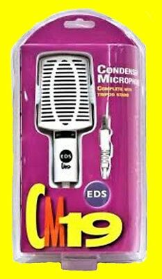 EDS CM19 Condenser Microphone with Tripod X 2