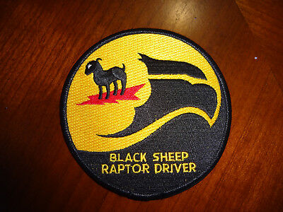 8th Fighter Squadron F-22 Black Sheep Raptor Driver patch