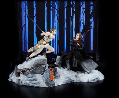 SDCC 2018 Hasbro STARKILLER BASE Star Wars Black Series Rey vs Kylo Ren