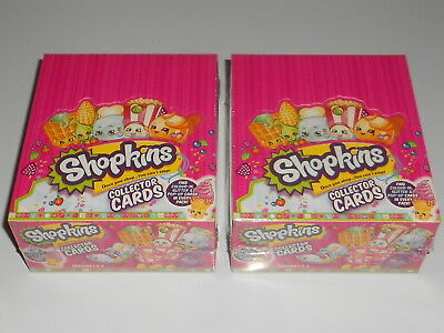 2x Sealed Boxes of New SHOPKINS Season 1 & 2 Collectors Trading Cards - 36x Pack