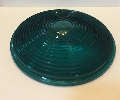 "Safetran Traffic Railroad Signal Lense  5 1/2"" Green Plastic New Old Stock One"