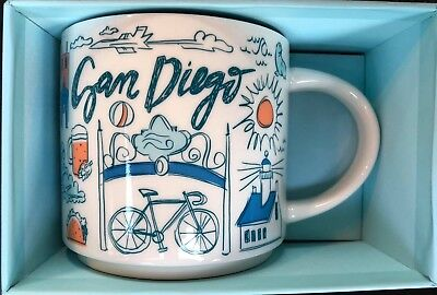 Starbucks Been There Collection San Diego RARE Version One Mug MISPRINT