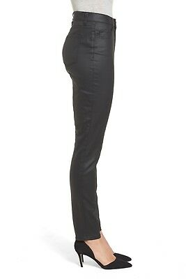 Halogen Coated Skinny Jeans Nordstrom Black Size 26 Women's New $79 Stretch NWT