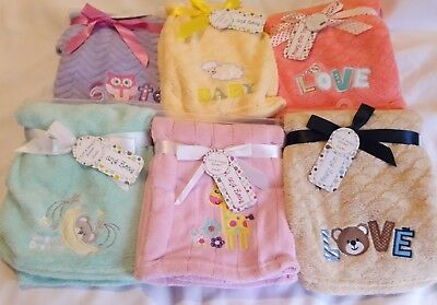 PERSONALIZED  Embroidered Applique Minky Blanket **Newborn Baby Shower Gift.**