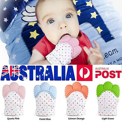 Silicone Baby Mitt Teething Mitten Teething Glove Candy Wrapper Sound Teether AU