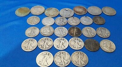 Reduced Lot of US Silver Cull Coins in the photographs: dinged/dented/holes/old!