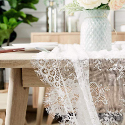 White 3M Romantic Chic White Lace Lace Tablecloth Decor Wedding Craft