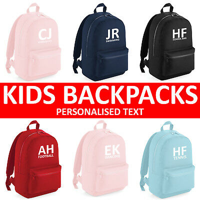 Boys Girls Personalised Football Gymnastics Dance Swimming School Backpack Bag