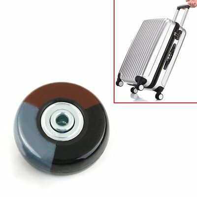 2Pcs OD 50mm Luggage Suitcase Wheels Axles Replacement Deluxe Repair Screw Kit