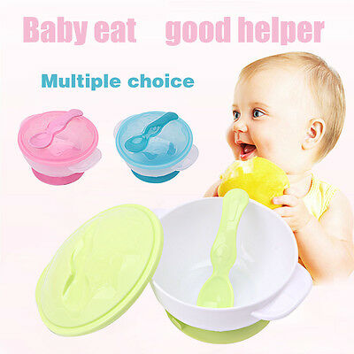 Vogue Baby Kids Children Suction Cup Slip-resistant Tableware Sucker Bowl Set UK