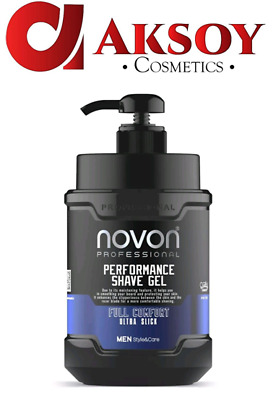 Novon Professional Shaving Gel - Rasiergel 1000ml XXL super Duft (100ml / 0,99€)