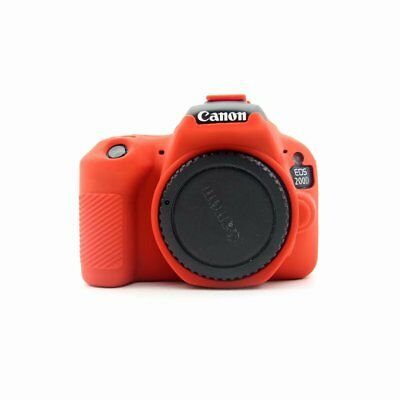 Soft Silicone Armor Skin Case For Canon EOS 200D Camera Cover Body Protector Red