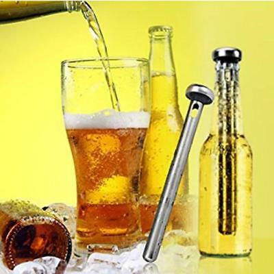 Stainless Steel Wine Bottle Cooling Chill Ice Cool Freezer Stick Rod Pourer LH