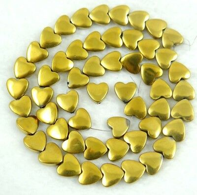 Titanium  Carved heart Hematite Gemstone loose beads 15Pcs  C7