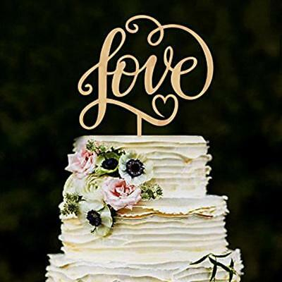 Rustic Wedding Decoration Love Cake Topper Wedding  Love letters CakeParty Dekor