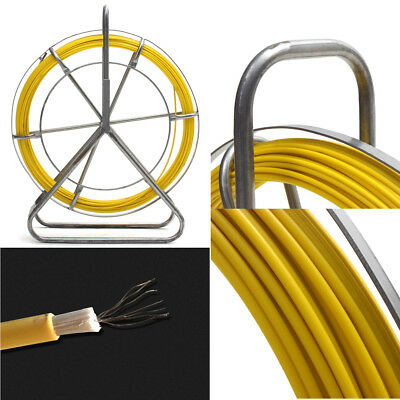 Fish Tape Fiberglass Cable Rod Duct Running Wire Puller Lead Rodder 100m*4.5mm
